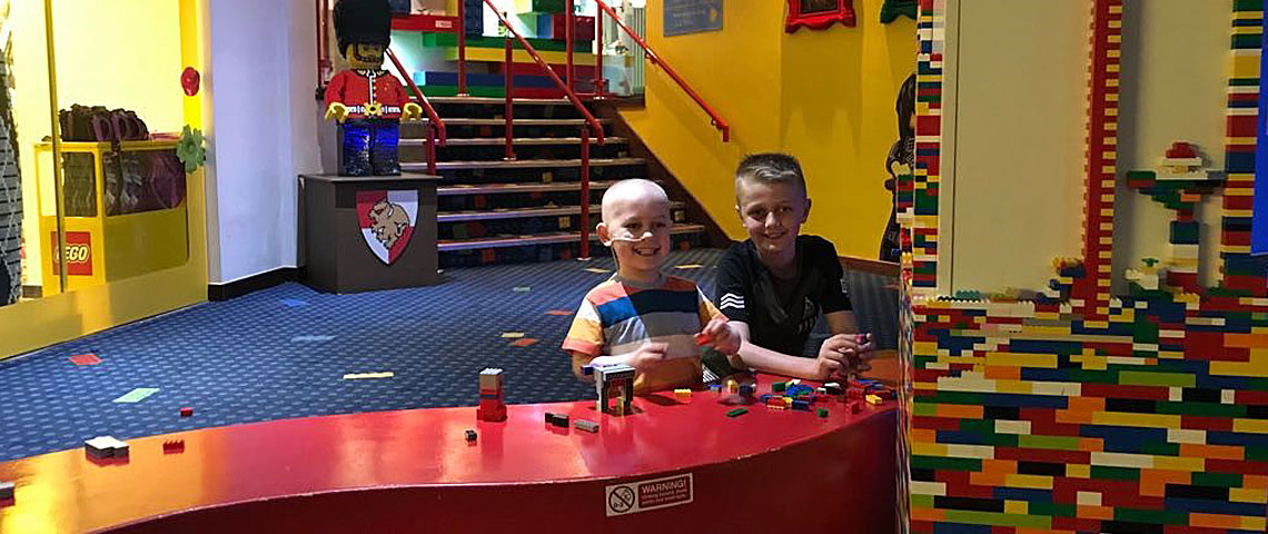 Stanley and his family visiting Legoland
