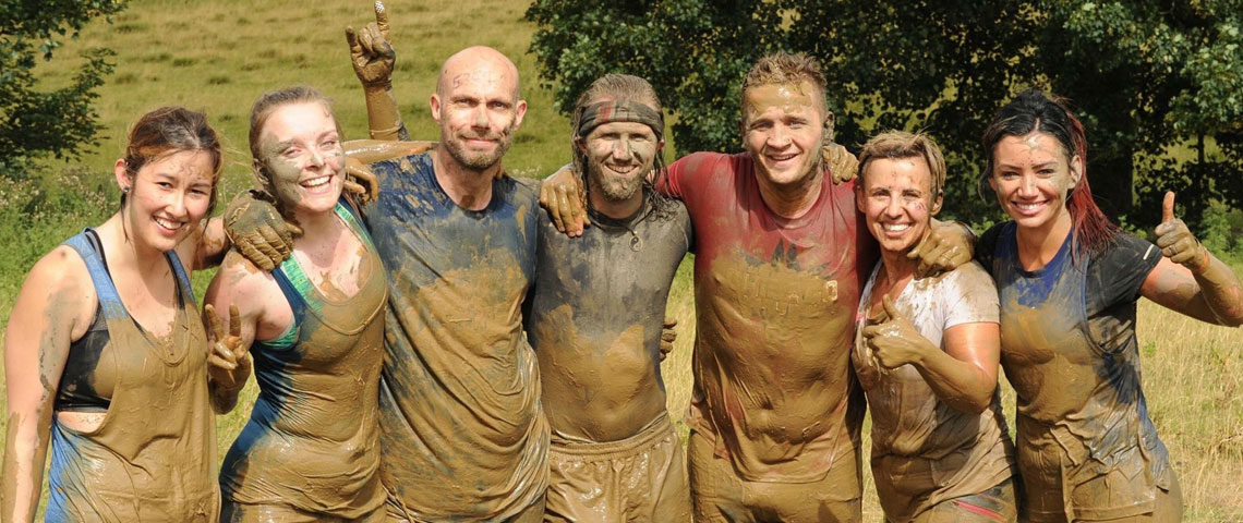 Doncasters Bramah staff and friends taking part in Tough Mudder in 2018
